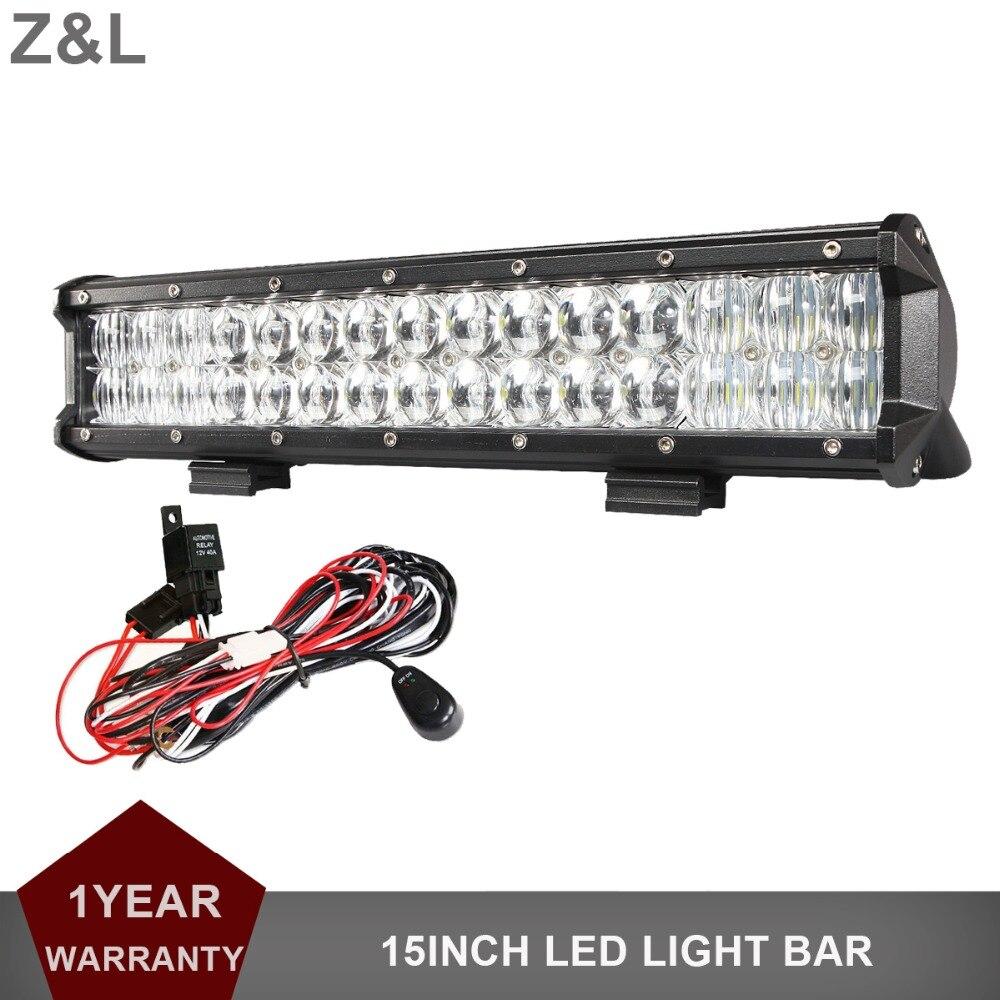 Offroad 15 Inch 150 W LED barre de lumière de travail voiture pick-up Auto camion bateau tracteur ATV SUV Combo indicateur lampe de conduite auxiliaire 9-30 V