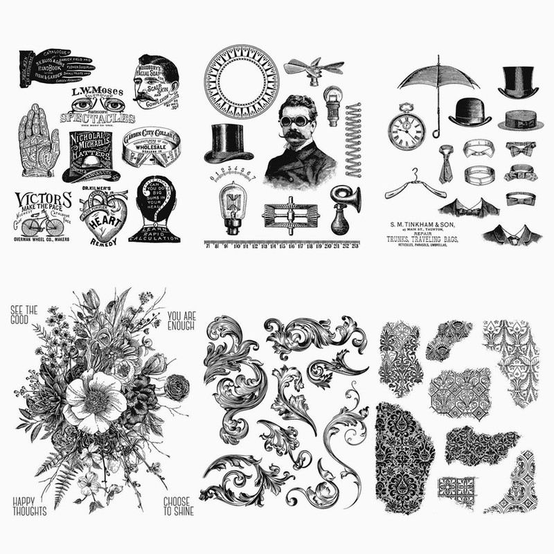 16*20CM 2019 DIY New Stamps For Scrapbooking And Clear Stamps Card Making Retro Cling Mounted Rubber Stamps Account Craft Set