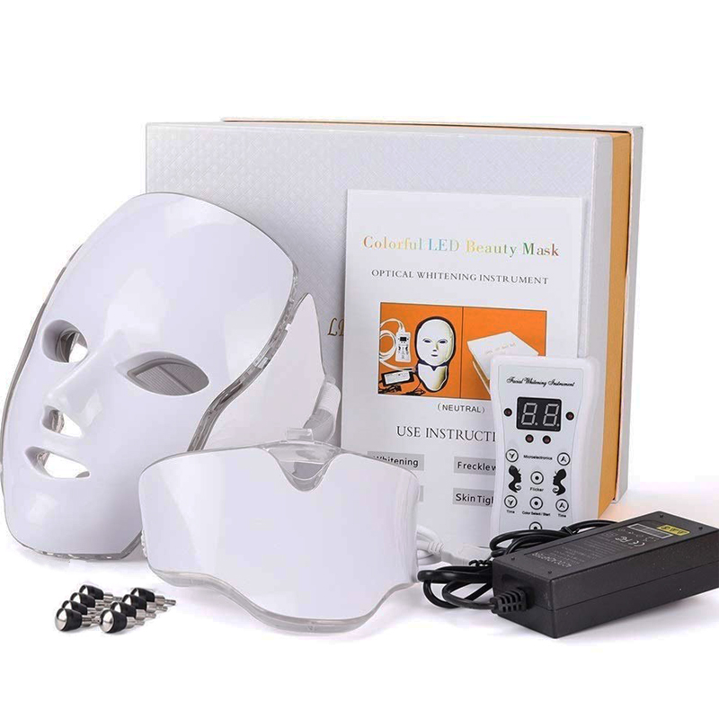 LED Facial Mask Therapy 7 Colors Face Mask Machine Photon Therapy Light Skin Care Wrinkle Anti-Aging Removal Face Beauty
