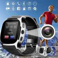 T8 Bluetooth montre intelligente avec caméra Facebook Whatsapp Support SIM TF carte appel sport Smartwatch pour téléphone Android PK Q18 DZ09