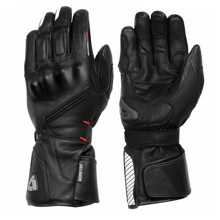 REVIT Warm 100 Waterproof Gloves Motorcycle Protective ATV Riding Winter Black Genuine Leather Gloves