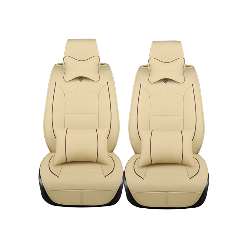 (Only 2 front) Luxury leather car seat cushion cover universal for OPEL Zafira Vectra Antara Agila Mokka Omega car-styling cover for opel astra zafira meriva ampera agila corsa new brand luxury soft pu leather car seat cover front