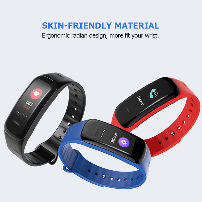 Rubber Smart Bracelet wrist Watch Heart Rate Blood Oxygen Monitor Call reminder IP67 Waterproof Fitness Pedometer Color screen