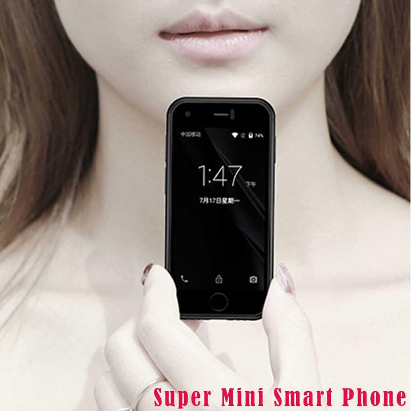 Super Mini-Smartphone Android SOYES 7S, MTK Quad Core 1GB + 8GB 5.0MP, Dual SIM, alta definición 8S, teléfono móvil X color negro