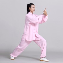 Unisex Traditional Chinese Clothing 14 Color Long Sleeved Wushu TaiChi KungFu Uniform Suit Uniforms Tai Chi Exercise Clothing chinese tai chi clothing taiji performance garment kungfu uniform embroidered outfit for men women boy girl kids children adults
