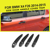 4 двери из углеродного волокна автомобилей Стайлинг боковой двери ручка крышки с отделкой светодиодный отверстие для BMW x4 F26 2014 2015