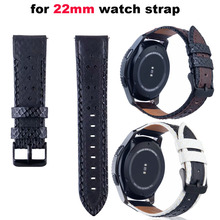 22mm Leather Smart Watch Bracelet for Xiaomi Amazfit Pace Stratos 2 Correa Strap for Samsung Gear S3 Band for Huawei Watch 2 Pro