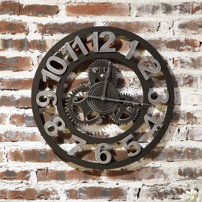industrial wall clocks melbourne large clock uk retro gears decorative country style for living room coffee shop vintage