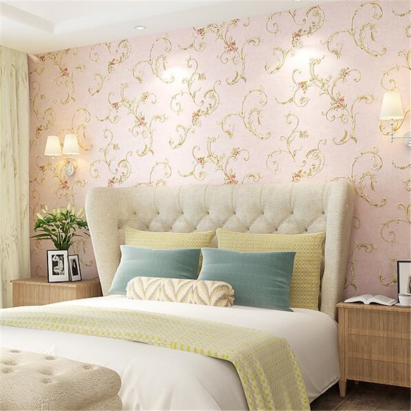 beibehang American pastoral wallpaper bedroom non-woven wallpaper retro living room tv backdrop wallpaper rustic Papel de parede pastoral large flower wallpapers 3d stereoscopic non woven embossed wallpaper for living room bedroom home decor papel de parede