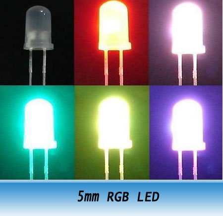 F5 5mm Rgb Slow Color Change Diffused Led Beads 1000pcs In