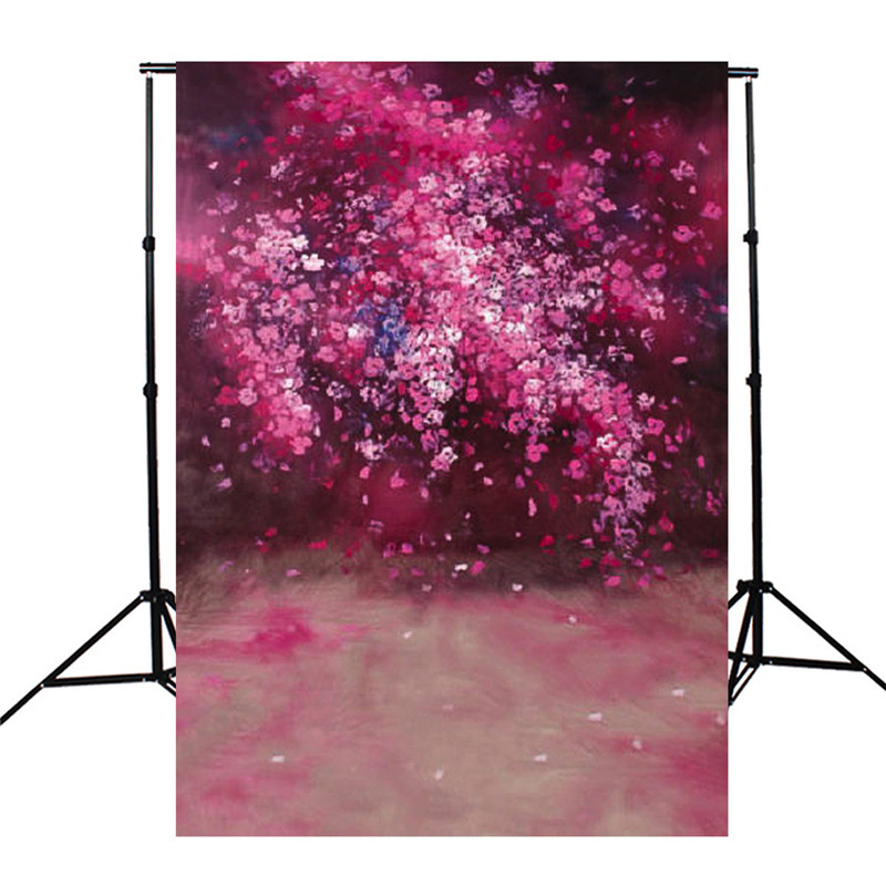 5x7ft  Romantic Sakura Stage Photography Background For Studio Photo Props vinyl Photographic Backdrops 1.5x 2.1m cloth shengyongbao 300cm 200cm vinyl custom photography backdrops brick wall theme photo studio props photography background brw 12