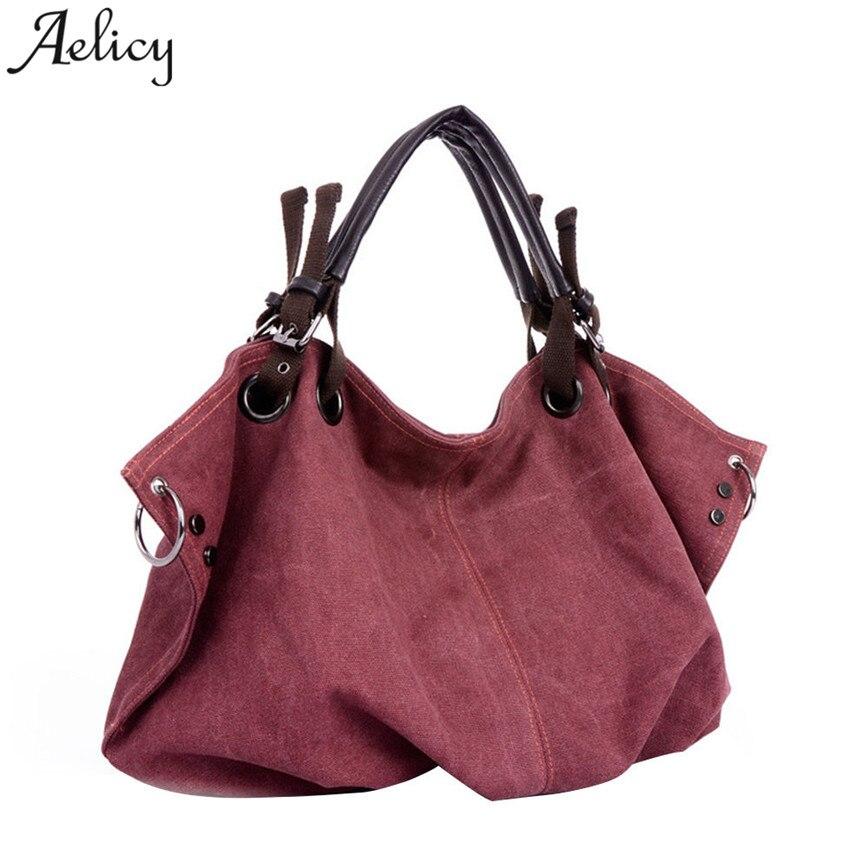 Large Capacity Canvas Handbag Famous Designer Messager Bag Female Crossbody Bags  Travel Bag S30