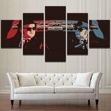 Современный домашний декор с Афишу «гостиной фотографии 5 Панель ретро автомобиль герои фильма Wall Art Холст Картина Pengda