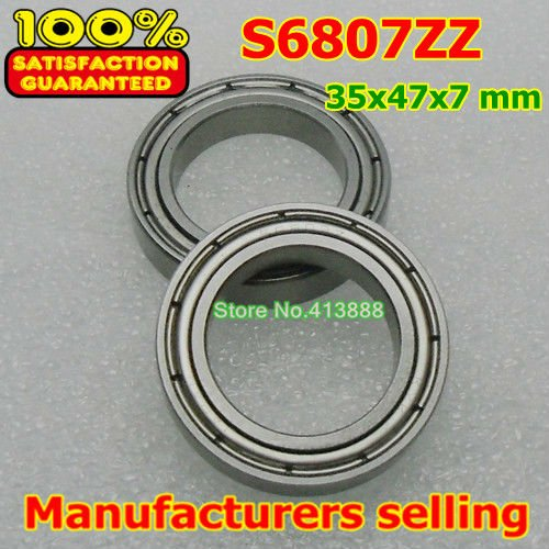 (1pcs) SUS440C environmental corrosion resistant stainless steel deep groove ball bearings S6807ZZ 35*47*7 mm 4pcs lot high quality abec 1 z2v1 stainless steel deep groove ball bearings s6005zz 25 47 12 mm