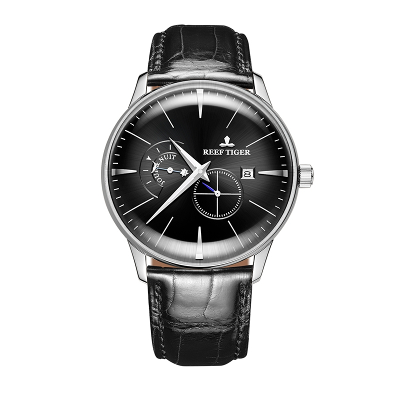 Reef TigerTop Luxury Brand Mens Watch Date Stainless Steel Relojes Automatic Dress Watches Leather Waterproof Watches RGA8219Reef TigerTop Luxury Brand Mens Watch Date Stainless Steel Relojes Automatic Dress Watches Leather Waterproof Watches RGA8219