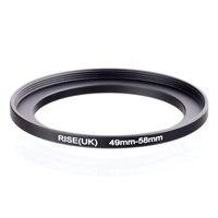Оригинальный адаптер для кольцевого фильтра RISE(UK) 49 мм-58 мм 49-58 мм от 49 до 58  черный