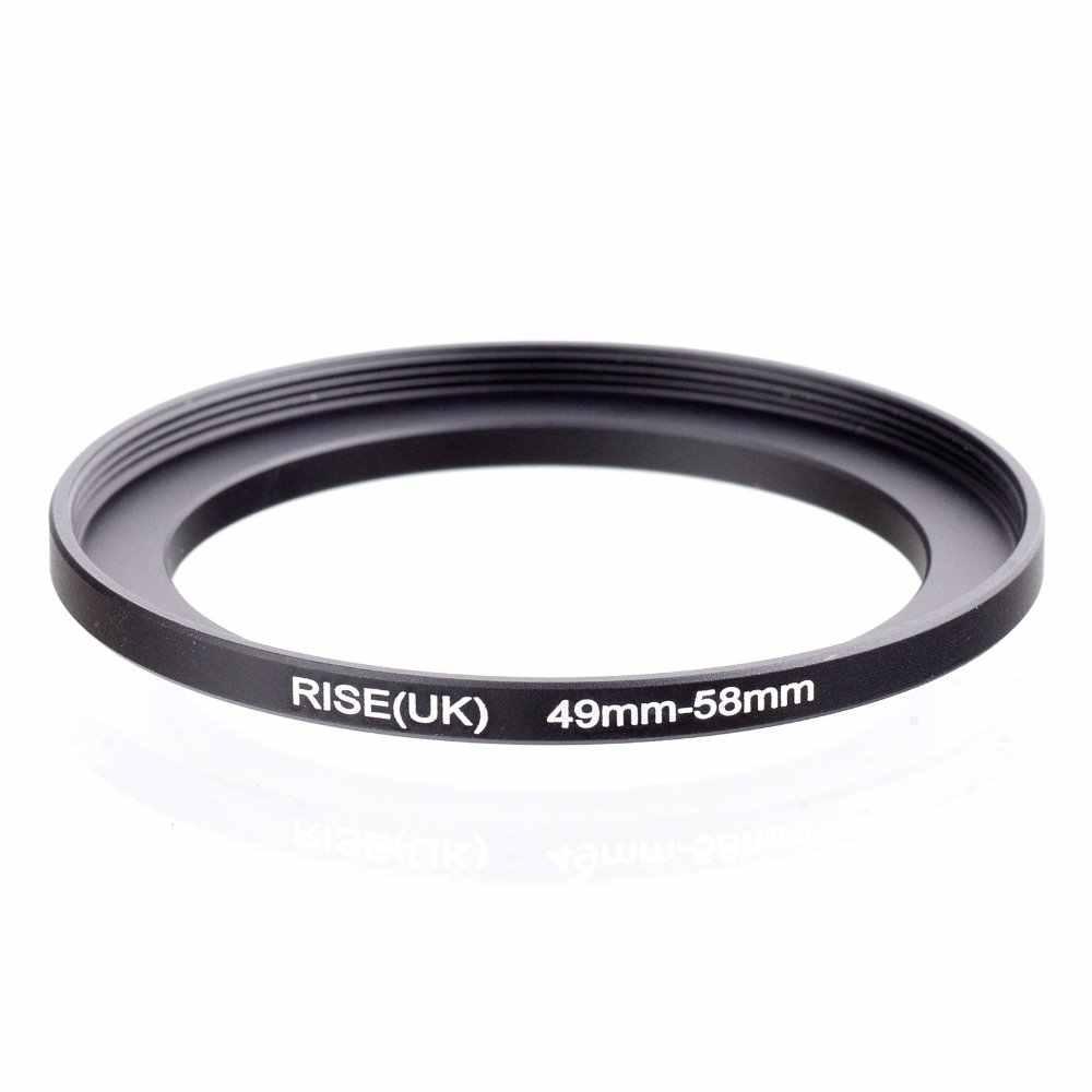 Original RISE (UK) 49 มม.-58 มม.49-58 มม.49 ถึง 58 Step Up แหวนอะแดปเตอร์ตัวกรองสีดำ
