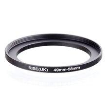 Orijinal RISE (İngiltere) 49mm 58mm 49 58mm 49 58 Step Up halka filtre adaptörü siyah