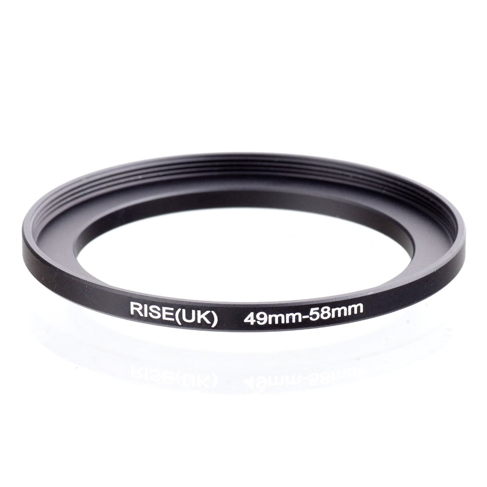 Original RISE(UK) 49mm-58mm 49-58mm 49 To 58 Step Up Ring Filter Adapter Black
