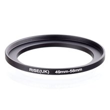 original RISE(UK) 49mm 58mm 49 58mm 49 to 58 Step Up Ring Filter Adapter black