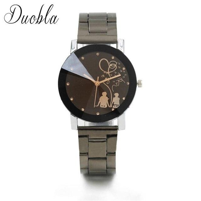 2018 New Relogio Couple Watches Student Couple Stylish Spire Glass Belt Quartz W