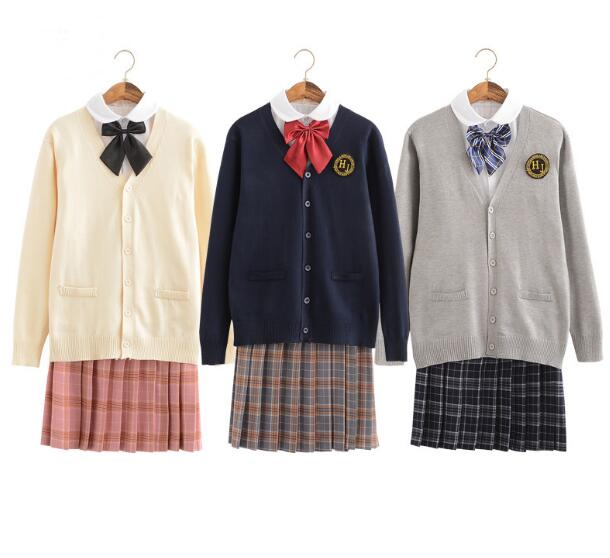 Japanese JK uniforms students wear sweaters sailors' suits school uniforms graduation shows party cosplay shirt set lolita skirt