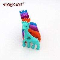 TYRY.HU BPA Free Giraffe Shaped Silicone Pendant For Fashion Jewelry Making Food Grade Silicone Teether Baby Teething Chew Toys