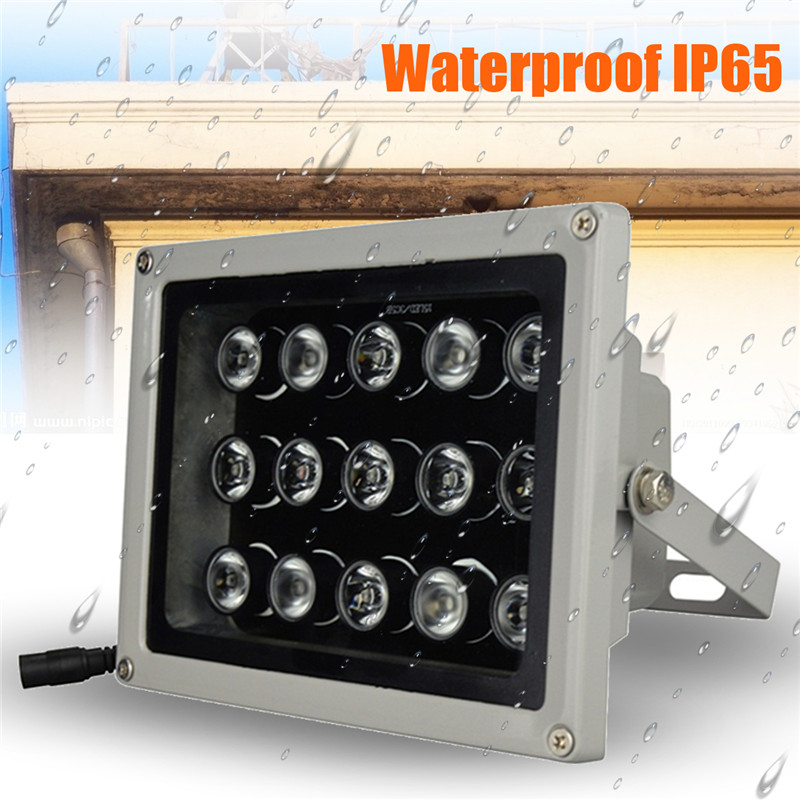 12V 15Pcs IR LEDs Array Light Led Infrared Lamp IP65 850nm Waterproof Night Vision for CCTV Camera Outdoor Waterproof Light 56pcs ir led cctv leds ir infrared illuminator 850nm night vision ac 220v ip65 metal waterproof for cctv surveillance camera
