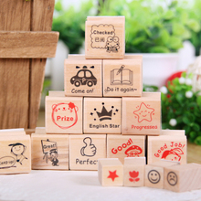 Free shipping Wooden Stamp Seal Cartoon Kindergarten Nurse School Teacher Reviews