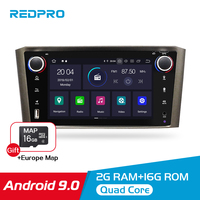 Android 9.0 IPS 2G RAM Car DVD Stereo Player For Toyota Avensis/T25 2003 2008 Car PC Head 1 Din GPS Navigation Video Multimedia