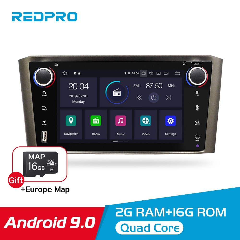 Android 9.0 IPS 2G RAM Estéreo Do Carro DVD Player Para Toyota Avensis/T25 2003-2008 Carro PC cabeça 1 Din Navegação GPS Multimídia de Vídeo