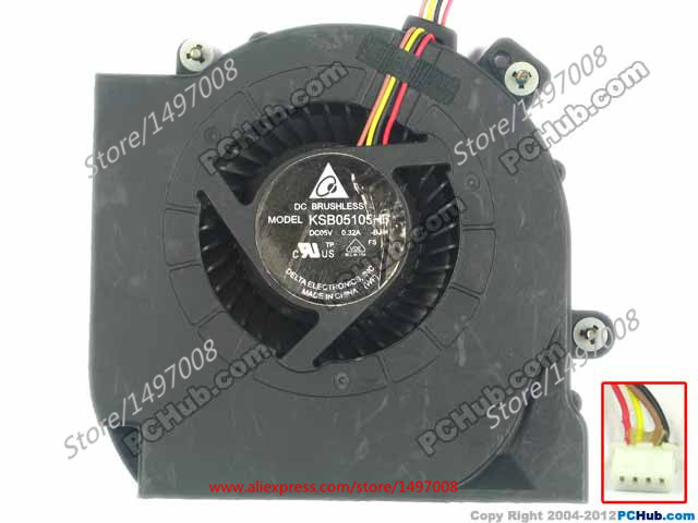 купить  Free Shipping For DELTA  KSB05105HB, -BJ94 DC 5V 0.32A 4-wire 4-pin connector 50mm Server Blower Cooling fan  онлайн
