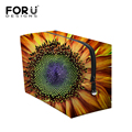 12 Colors Make up Organizer Bag Sunflower Printed Women Casual Travel Cosmetic Bag Multi Functional Floral Cosmetic Storage Bag