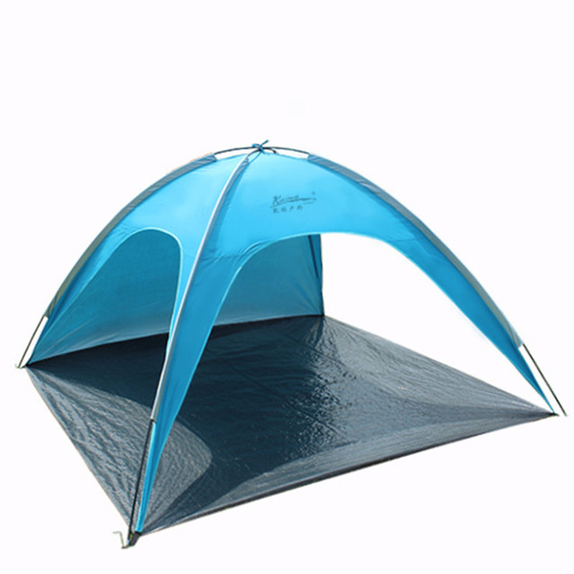 Outdoors Camping Hiking Fishing Beach Sun Shelter Picnic Sunshade Canopy Awning Park Tent Roof Shade Glass Fiber Rod