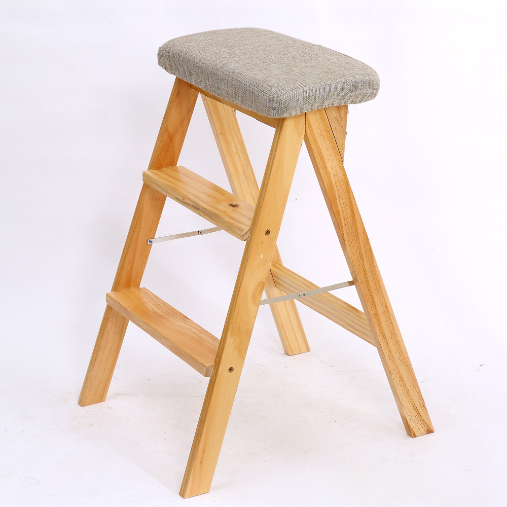 Strange Us 61 65 30 Off B Solid Wood Creative Folding Stool Simple Folding Kitchen Ladder Stool Portable High Stool Home Change Shoes High Stool In Step Machost Co Dining Chair Design Ideas Machostcouk