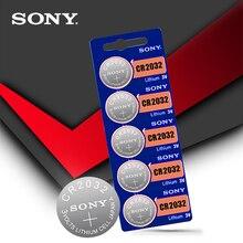 Sony batería de litio 100% Original CR2032 3V, 5 unidades/lote, para reloj, calculadora de Control remoto, CR2032 2032, pilas de botón