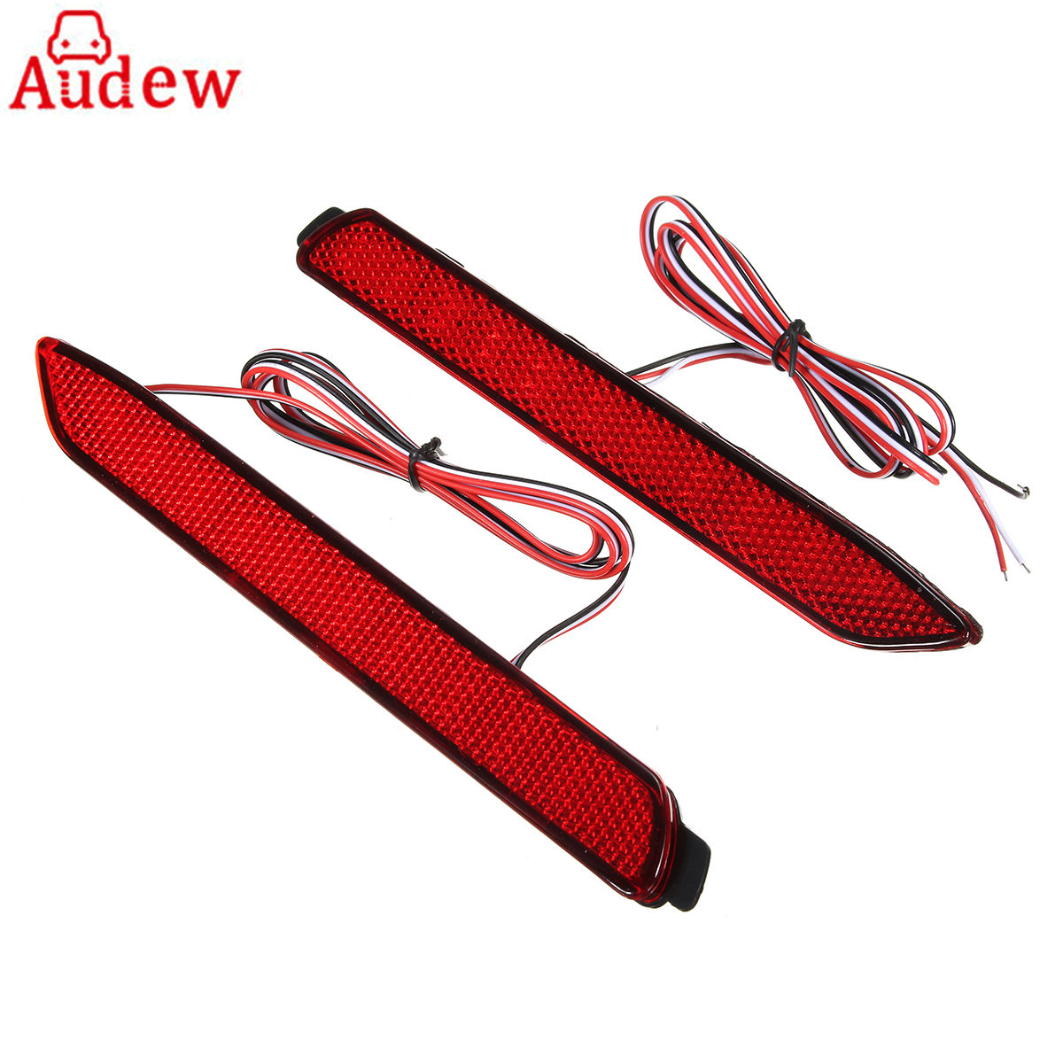 где купить Pair Car LED Rear Bumper Reflector Brake Lights Red Lens Red Lamp for Lexus IS-F GX470 RX300 for Toyota/Camry/Sienna/Venza/Reiz дешево
