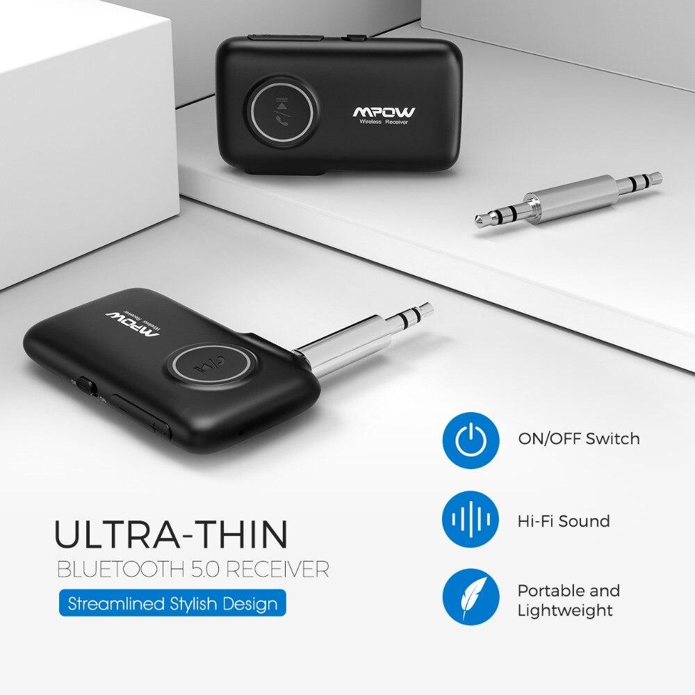 VicTsing Bluetooth Receiver 5.0 Car Adapter Kit CSR Bluetooth Receiver Transmitter 16 Hours Aux Adapter Audio Hands-Free Calls   (3)