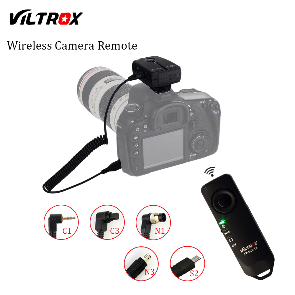 VILTROX JY-120 cámara inalámbrica del obturador Cable de Control remoto para Canon, Nikon, Pentax, Samsung Sony A7 A7SII A6000 A6300