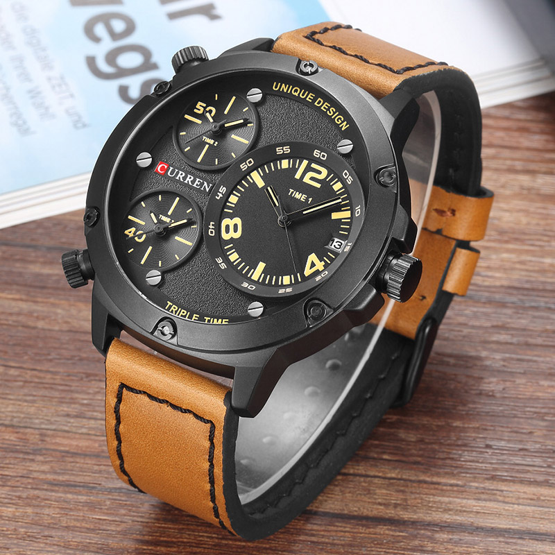 CURREN Men Watches Luxury Casual Men Watches Men Analog Military Sports Watch Quartz Male Wristwatches Relogio Masculino 2017 curren 2017 men watches relogio masculino luxury military wristwatches fashion casual quartzwatch water resistant calendar 8254