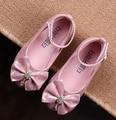 Niños zapatos de baile de las niñas 2016 nuevo verano noble sandalias de las muchachas niños diseñador de moda solos zapatos de la princesa sandalias de las muchachas