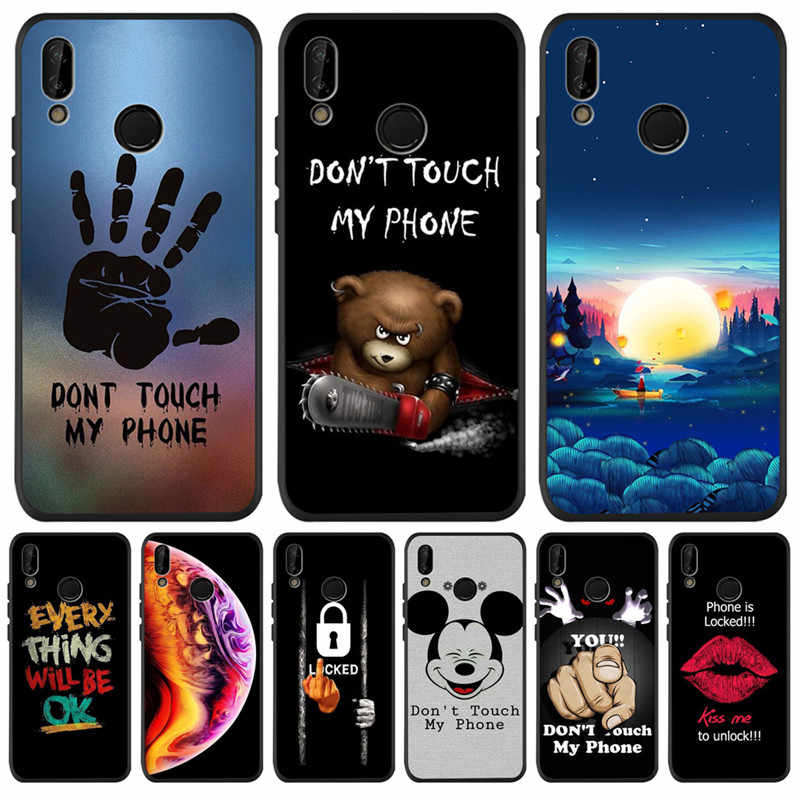 Don't touch my phone Mickey For Huawei P8 P10 P20 P30 Mate 10 20 Honor 8 8X 8C 9 10 Lite Plus Pro Case Cover Coque Etui Funda