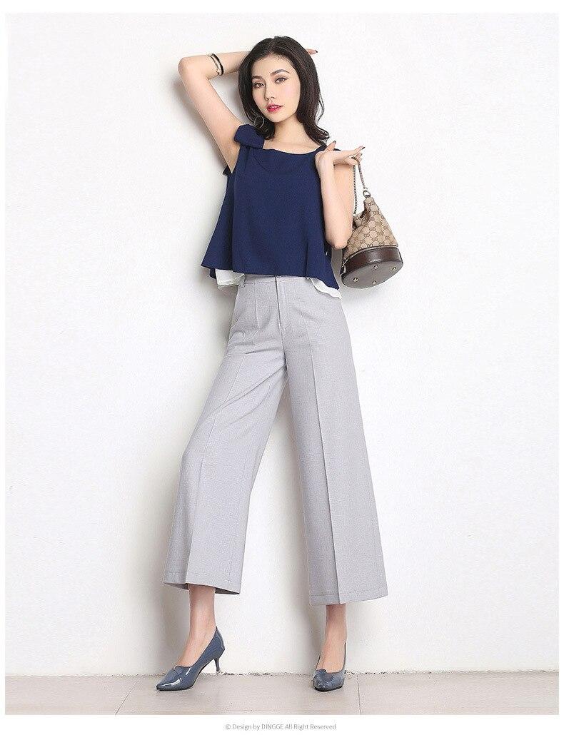 Su persona tiene que asegurarse sobre que antes de comprar un Nuevo de mujeres  ancho de la pierna Pantalones de cintura alta bcc80a0f6530