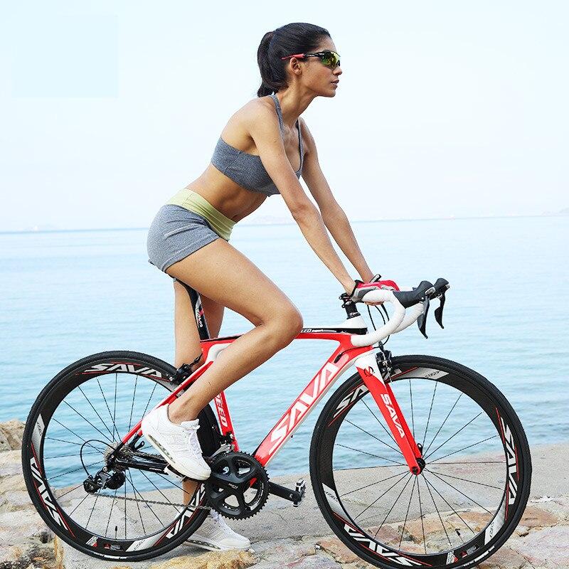 Vélo de route Original de fibre de carbone de vent de frein de marque de x-front 22 vitesses 700cc * 23C 5800 vélo léger Ultral de course de bicicleta