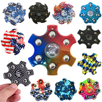 Camouflage Hand Spinner Seven Flap Plastic Iron Fidget Spinner Steel Bearing For Autism ADHD Anxiety Stress