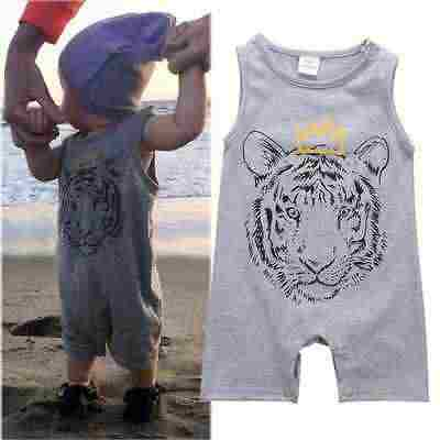 431092a7f ... 2016 Baby Clothes Cool Design Summer Sleeveless Tiger Romper Infant  Kids Onesies Bebes Boys Rompers ...