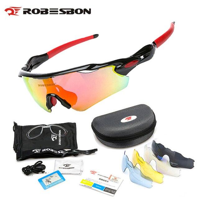 d237543e20 ROBESBON ciclismo gafas polarizadas Eyewears 5 lente de las mujeres de los  hombres de la montaña
