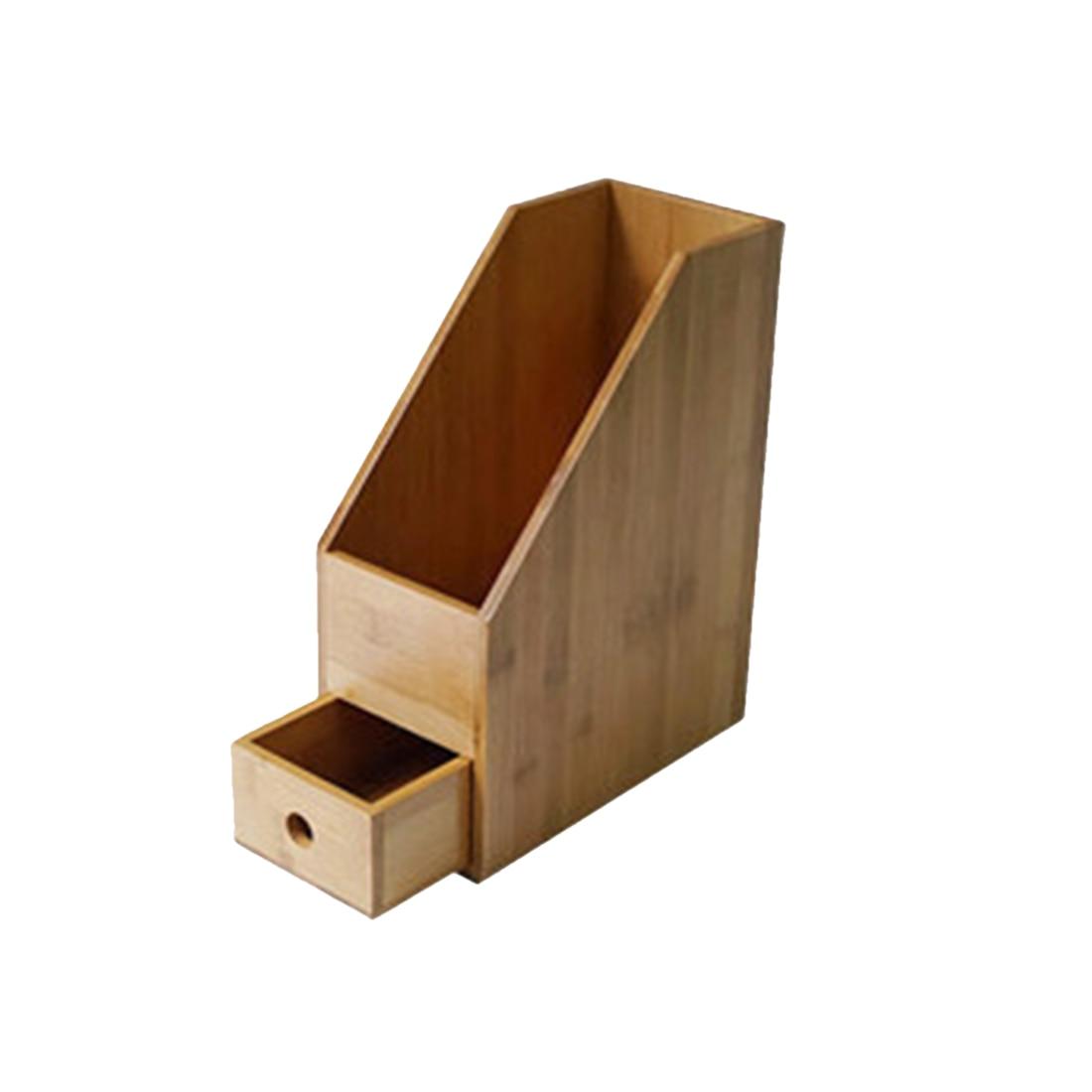 Support Vertical en bois de stockage de Documents de bureau organisateur de porte-fichiers de bureau de forme physique-couleur primaire