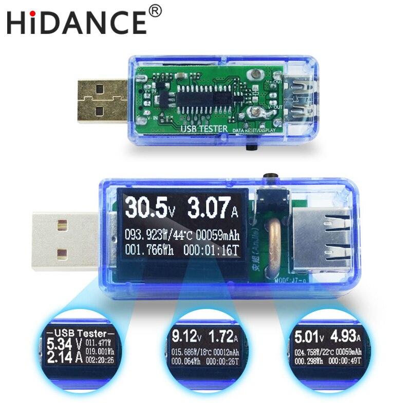 Multim/ètre Chargeur Capacit/é Voltage 3/V-9/V 0/A-6/A Testeur de tension Amp/èrem/ètre Courant haute pr/écision /Écran LCD Chargeur USB Testeur