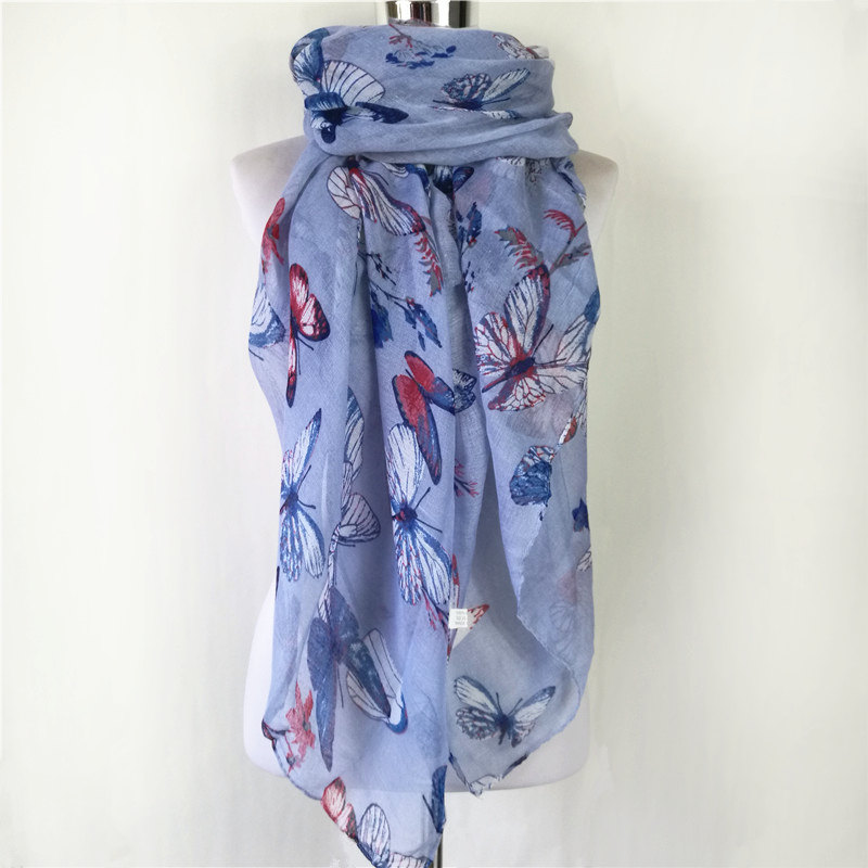 10pcs/lot New Fashion Soft spring winter Scarf Women Female Viscose Scarves Butterfly Long scarf for women foulard scarves